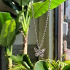 Butterfly-pendant Chain Necklace