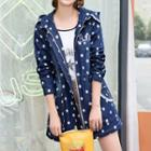 Dotted Hooded Denim Jacket
