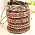 Patterned Genuine-leather Bracelet