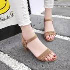 Double Strap Chunky Heel Sandals