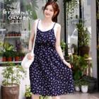Inset Layered Top Sleeveless Dress