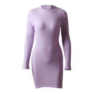 Open Back Long-sleeve Mini Sheath Dress