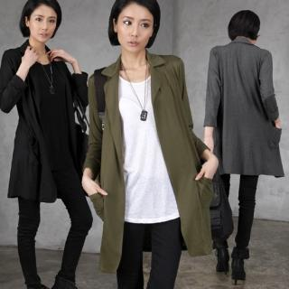 Open-front Long Jacket