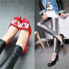 Genuine Leather Fringed Stilettos
