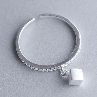 Sterling Silver Cubic Drop Ring