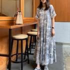 Short-sleeve Maxi Printed Dress