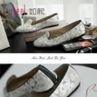 Genuine-leather Flats