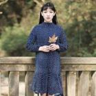 Ruffled Dotted Chiffon Dress