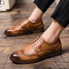 Faux-leather Lace-up Wingtip Oxford Shoes