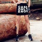 Lettering Miniskirt