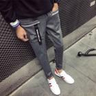 Lettering Applique Slim Fit Pants
