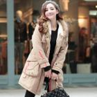 Faux-fur Trim Hooded Padded Coat