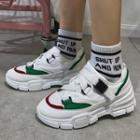 Platform Buckled Mesh Sneakers