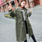 Loose-fit Hooded Trench Jacket