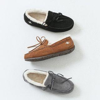 Faux-shearling Moccasins