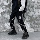 Gather-cuff Printed Sweatpants