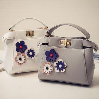 Flower Accent Hand Bag