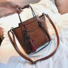 Tassel Faux Leather Hand Bag