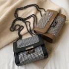 Houndstootth Box Crossbody Bag