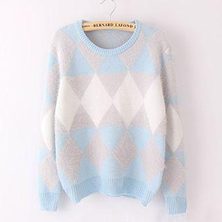 Rhombus Patterned Sweater
