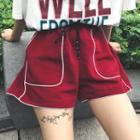 Drawstring High-waist Shorts