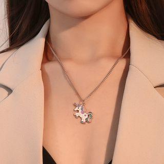 Unicorn Necklace 01 - 8170 - Gold - One Size