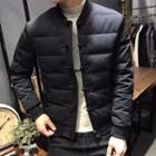 Padded Frog Buttoned Jacket