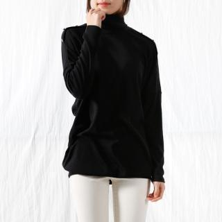 Turtle-neck Dolman-sleeve Top