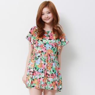 Floral Print A-line Minidress