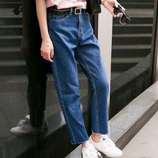 Plain Straight Jeans