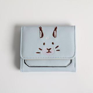 Embroidery Rabbit Short Wallet