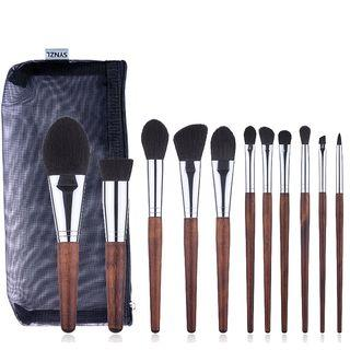 Set Of 11: Makeup Brush Set Of 11: Wood - One Size