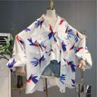 Asymmetric Printed Shirt