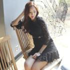 Bell-sleeve Laced Dress