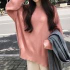Side Slit Sweater / Cropped Wide-leg Pants