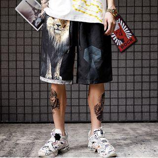 Lion Print Shorts