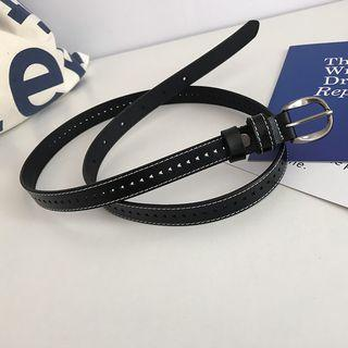 Genuine Leather Stitched Belt