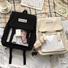 Print Applique Backpack
