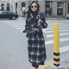 Tie-waist Plaid Coat