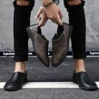Embossed Trim Loafers