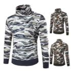 Camo Turtleneck Long Sleeve Top