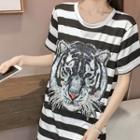 Tiger Short-sleeve Long T-shirt