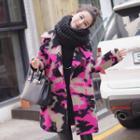 Camo Woolen Long Coat