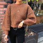 Balloon-sleeve M Lange Cropped Sweater