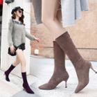 High-heel Pointy-toe Tall Boots