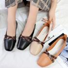 Double Buckled Square Toe Flats