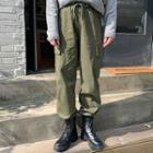 Drawstring-waist Baggy-fit Cargo Pants