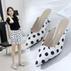 High-heel Dotted Slippers