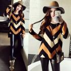 Wavy Striped Sweater