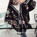 Embroidered Oversized Cardigan